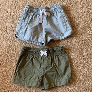 Baby girl Carters summer shorts bundle 6 months